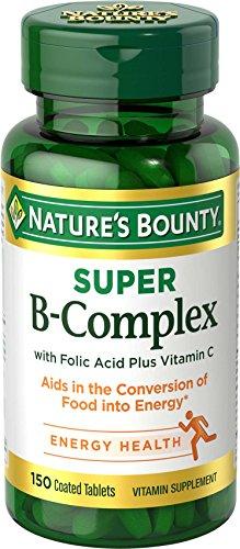 Nature's Bounty Super B Complex w/Folic Acid plus Vitamin C (150 Coated Tablets)