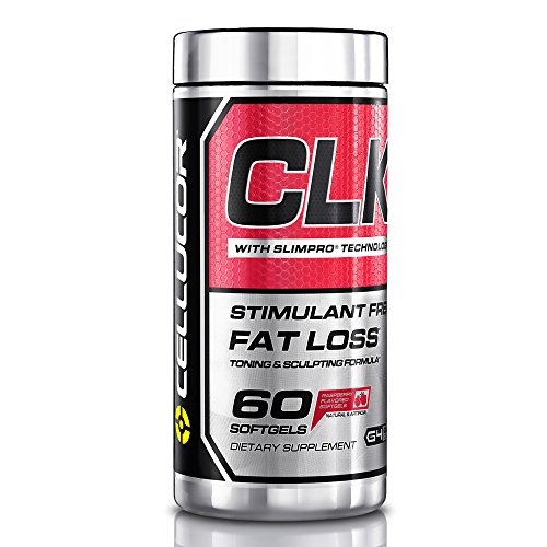 Cellucor CLK Fat Burner for Weight Loss with CLA, Conjugated Linoleic Acid, Raspberry Ketones, L-Carnitine, 60 Softgels