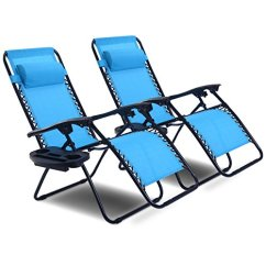 Zero Gravity Chair 2 Pack Desk Kmart Goplus Best Offer Set Adjustable Folding Lounge Recliners For Patio Outdoor Yard Beach