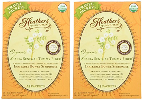 Heather's Tummy Fiber Organic Acacia Senegal Travel Packets