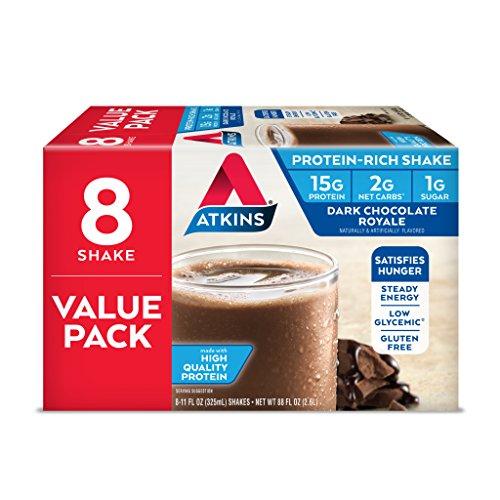 Atkins Ready to Drink Protein-Rich Shake, Dark Chocolate Royale