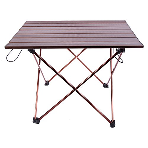Himal Portable Ultralight Folding Aluminum Table Camping Picnic Roll Up Table 21.5 x 16