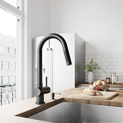VIGO Gramercy 17 Inch Single Handle Pulldown Arc Brass Kitchen