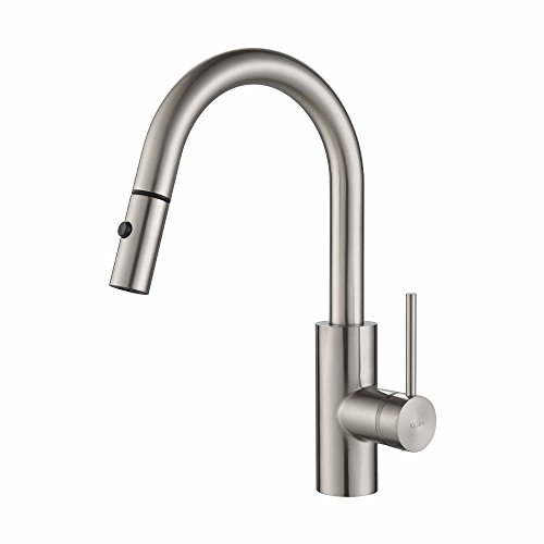 Kraus Modern Oletto Single Lever Pull Down Kitchen Faucet