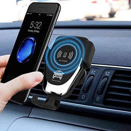 Nesolo 10W QI Wireless Car Charger, Car Mount with Air Vent Phone Holder