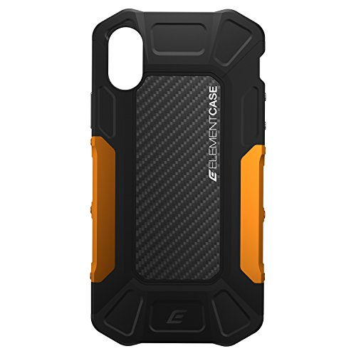 Element Case Formula Drop Tested Case for iPhone X/XS - Black/Orange