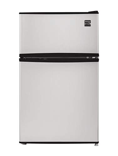 Kenmore Compact Mini Refrigerator, 3.2 cu. ft. in Metallic Silver