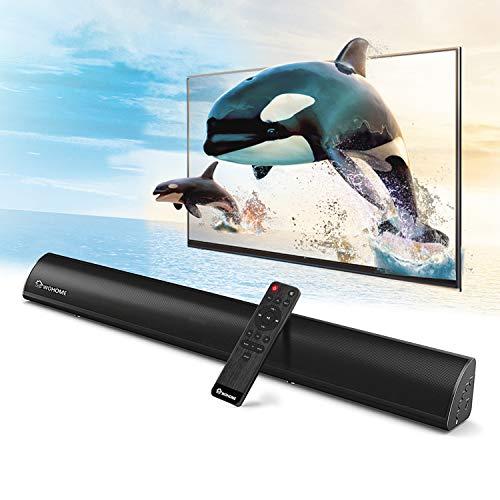 2.1 Channel Bluetooth Sound Bar, Wohome TV Soundbar