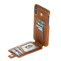 Snap-on Case with Attached Bifold Wallet for Apple iPhone XS Max