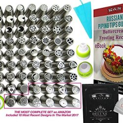 Russian Piping Tips Set 127 pcs Premium QUALITY Icing tips Cake