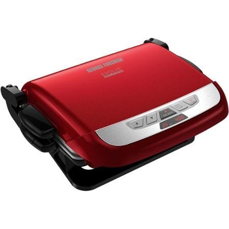 Modern George Foreman Evolve Grill with Removable Plates, Red