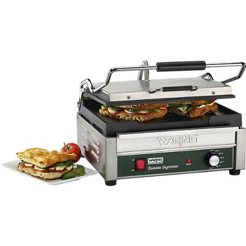 Waring Commercial 120-volt Italian-Style Panini Grill, Large