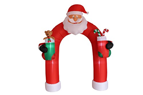 9 Foot Tall Christmas Inflatable Santa Claus Archway Arch