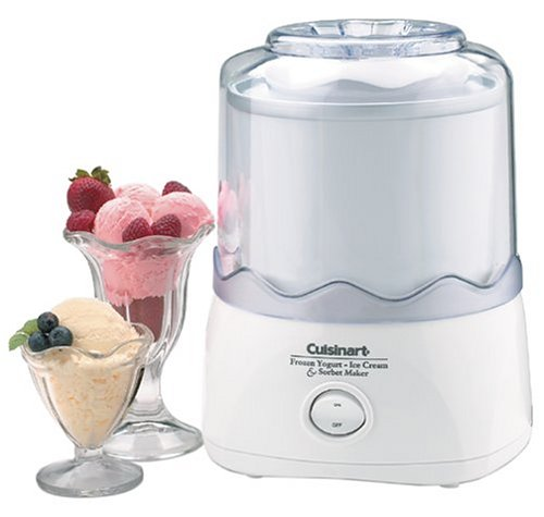 Cuisinart Automatic 1-1/2-Quart Ice Cream Maker, White