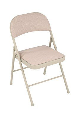 "Cosco Cushioned Folding Chair 1-1/2"" Sand Polyethylene"