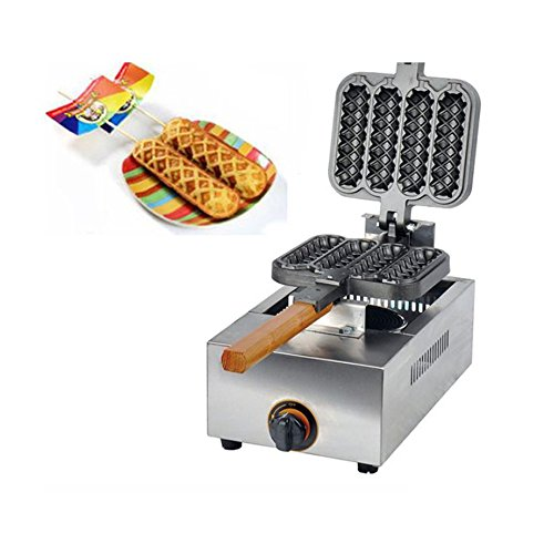 Commercial USE Non-stick LPG Gas Lolly Waffle Maker
