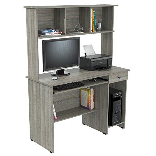 Inval Computer Desks, Smoke Oak