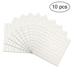 3D Brick Wall Stickers, FOME PE Foam 3D Brick Wall Tile Easy
