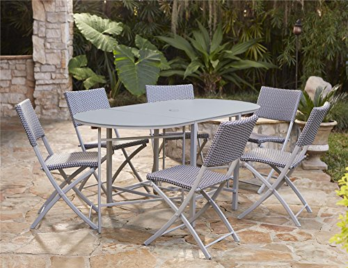 Cosco Outdoor Dining Set with Chair Storage