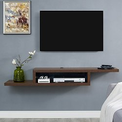 Martin Furniture Asymmetrical Floating Wall Mounted TV Console