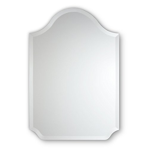 Frameless Beveled Wall Mirror | Bell Top with Scalloped Corners