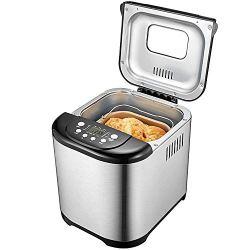 Bread Maker, Aicok 2 Pound Programmable Bread machine