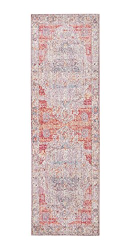 Rivet Stonewashed Sunset Rug, 2'6'' x 8', Blush