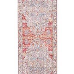 Rivet Stonewashed Sunset Rug, 2'6'' x 8', Blush