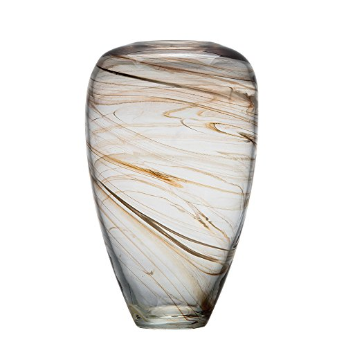 Ballerina Hand Blown Glass Clear Vases Stripes Storage