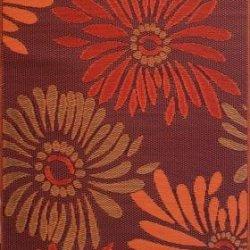 Mad Mats Daisy Indoor/Outdoor Floor Mat, 6 by 9-Feet, Rust