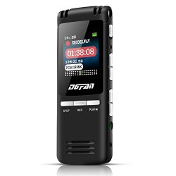 DGFAN Voice Recorder, 560 Hours Rechargeable 8GB