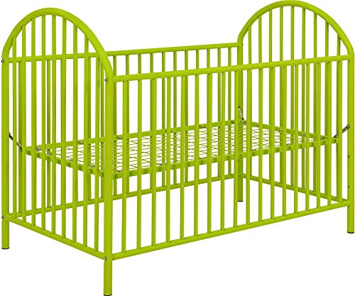 Ameriwood Home Prism Metal Crib, Lime Green