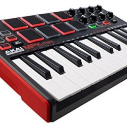 Akai Professional MPK Mini MKII | 25-Key Portable USB Akai Professional MPK Mini MKII | 25-Key Portable USB MIDI Keyboard With 16 Backlit Performance-Ready Pads, 8-Assignable Q-Link Knobs & A 4-Way Thumbstick.