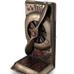 Veronese Resin Decorative Bookends Steampunk Metallic Bronze