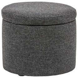 Rivet Madison Lift-Top Modern Storage Ottoman