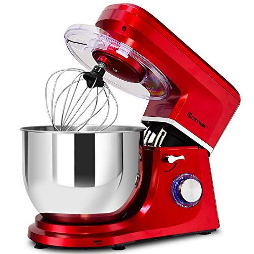 COSTWAY Stand Mixer, 660W Tilt-head Electric Kitchen Food Mixer
