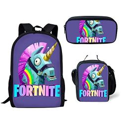 MOREFUN Fortnite Game School Backpack for Boys Girls