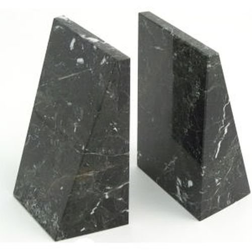 Decorative Black Zebra Marble Bookends