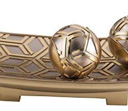 """OK Lighting 17.5"""" Rose Gold Color Decorative Bowl"""