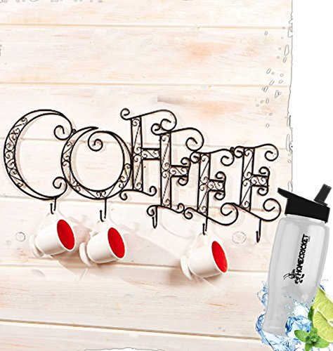 Gift Included- Kitchen Wall Mounted Coffee Mug Cup