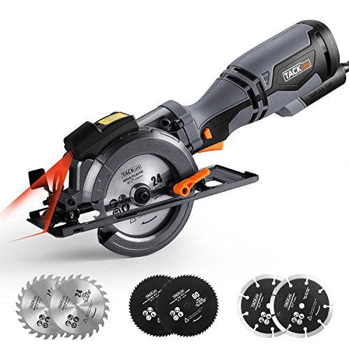 """Circular Saw with Metal Handle, 4-3/4"""", 5.8A, Laser Guide"""