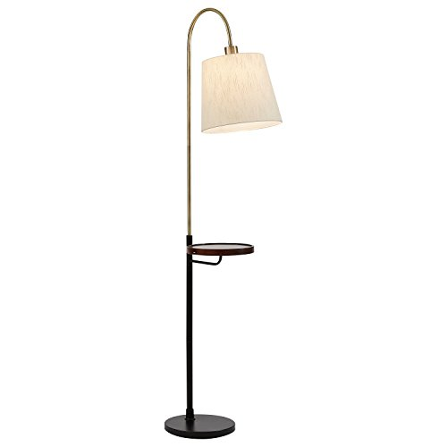 Rivet Franklin Shelf and USB Charging Station Floor Lamp