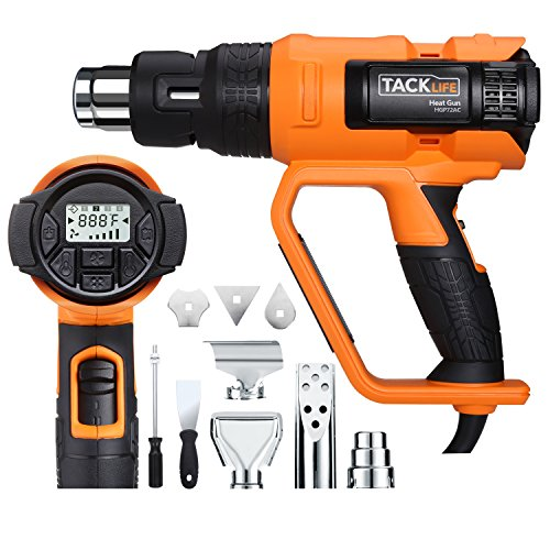 Heat Gun, Tacklife Heavy Duty Hot Air Gun with Large LCD Display