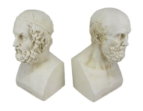 House Parts Aristotle and Homer Bust Bookends Greek