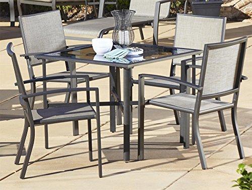 Cosco Outdoor 5 Piece Serene Ridge Aluminum Patio Dining Set
