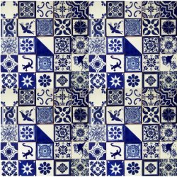 "100 Hand Painted Talavera Mexican Tiles 4""x4"""