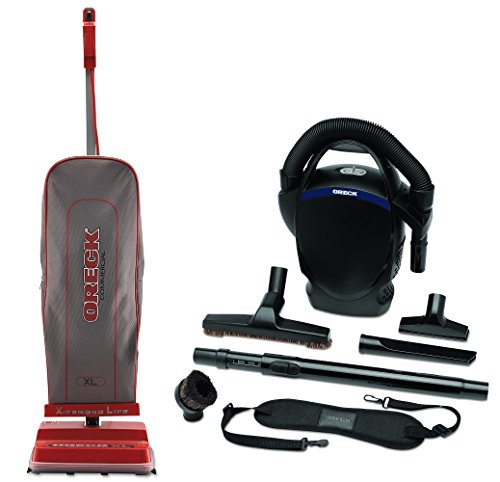 Oreck Commercial 120 V Red/Gray Upright Vacuum Bundle