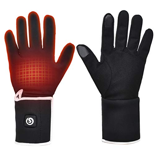Heated Glove Liners for Men Women,Rechargeable Battery
