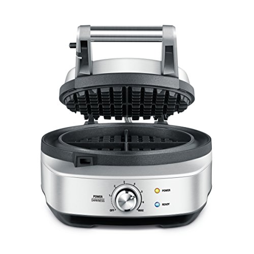 Breville The No Mess Waffle Maker, Silver