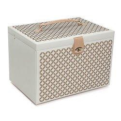 WOLF Chloe Jewelry Box, XL Chest, Cream